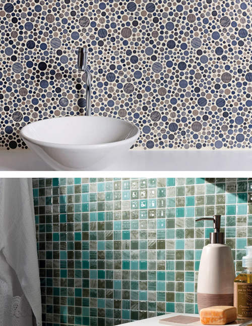 decoracao banheiro pastilhas : decoracao banheiro pastilhas: ambiente sofisticado banheiro banheiro de cores claras banheiros com